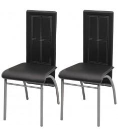 Καρέκλες Τραπεζαρίας 2 τεμ. Μαύρες  242918