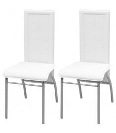 Καρέκλες Τραπεζαρίας 2 τεμ. Λευκές  242920