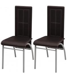 Καρέκλες Τραπεζαρίας 2 τεμ. Καφέ  242922