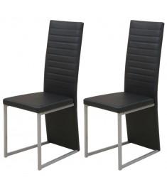Καρέκλες Τραπεζαρίας 2 τεμ. Μαύρες   242928