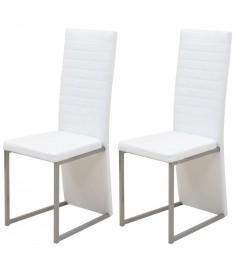 Καρέκλες Τραπεζαρίας 2 τεμ. Λευκές   242930
