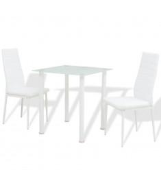 Σετ Τραπεζαρίας και Καρέκλας Τριών Τεμαχίων Λευκό  242934