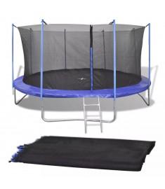 Δίχτυ Ασφαλείας Μαύρο από PE για Στρογγυλό Τραμπολίνο 4,57 μ.   142101