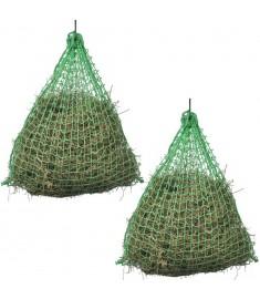 Δίχτυα Σανού Στρογγυλά 2 τεμ. 0,75 x 0,5 μ. Πολυπροπυλένιο