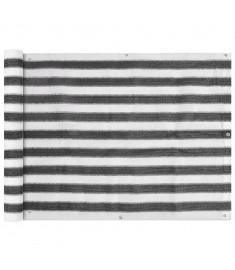 Διαχωριστικό Βεράντας Ανθρακί και Λευκό 90 x 600 εκ. από HDPE  42319