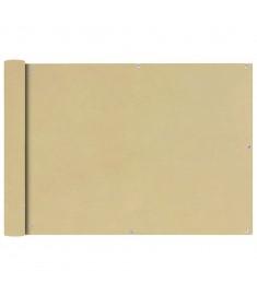 Διαχωριστικό Βεράντας Μπεζ 75 x 400 εκ. από Ύφασμα Oxford