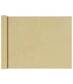Διαχωριστικό Βεράντας Μπεζ 90 x 400 εκ. από Ύφασμα Oxford
