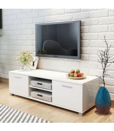 Έπιπλο Τηλεόρασης Γυαλιστερό Λευκό 120 x 40,3 x 34,7 εκ.  243041