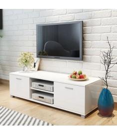 Έπιπλο Τηλεόρασης Γυαλιστερό Λευκό 140 x 40,3 x 34,7 εκ.  243043
