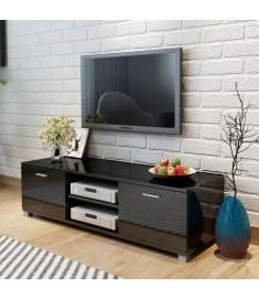 Έπιπλο Τηλεόρασης Γυαλιστερό Μαύρο 140 x 40,3 x 34,7 εκ.  243044