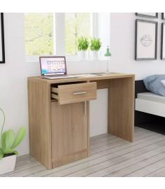 Γραφείο με Συρτάρι και Ντουλάπι Χρώμα Δρυς 100 x 40 x 73 εκ.  243057