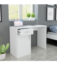 Γραφείο με Συρτάρι και Ντουλάπι Λευκό 100 x 40 x 73 εκ.  243058