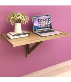 Τραπέζι Τοίχου Πτυσσόμενο 100 x 60 εκ. από Ξύλο Βελανιδιάς  243053