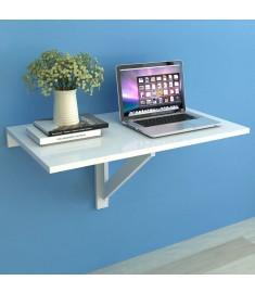 Τραπέζι Τοίχου Πτυσσόμενο Λευκό 100 x 60 εκ.  243054