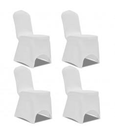 Καλύμματα Καρέκλας Ελαστικά 4 τεμ. Λευκά