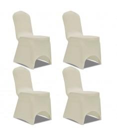 Καλύμματα Καρέκλας Ελαστικά 4 τεμ. Κρεμ  131410
