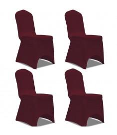 Καλύμματα Καρέκλας Ελαστικά 4 τεμ. Μπορντό