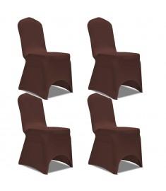 Καλύμματα Καρέκλας Ελαστικά 4 τεμ. Καφέ   131416