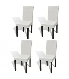 Κάλυμμα Καρέκλας Ελαστικό Ίσιο 4 τεμ. Κρεμ