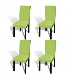 Κάλυμμα Καρέκλας Ελαστικό Ίσιο 4 τεμ. Πράσινο   131427