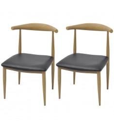 Καρέκλες Τραπεζαρίας 2 τεμ. Μαύρες  243011