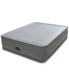 Intex Στρώμα Ύπνου Λευκό 152 x 203 x 46 εκ. PVC Βελουτέ 64414   91062