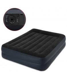 Intex Στρώμα Ύπνου με Μαξιλάρι 64124 Μαύρο 152 x 203 x 42 εκ. από PVC   91065
