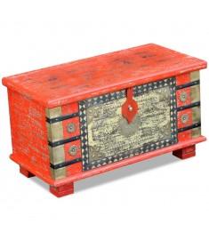 Μπαούλο Αποθήκευσης Κόκκινο 80 x 40 x 45 εκ. από Ξύλο Μάνγκο   243331