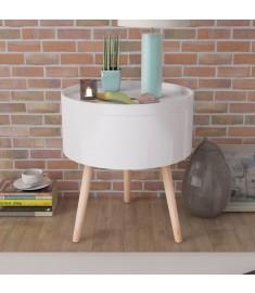 Τραπέζι - Δίσκος Στρογγυλό Λευκό 39,5 x 44,5 εκ.   243402