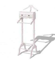 Σταντ Ρούχων με Ντουλάπι Λευκό Ξύλινο  242751