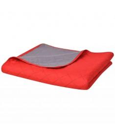 Κουβερλί Καπιτονέ Διπλής Όψης Κόκκινο και Γκρι 230 x 260 εκ.  131557