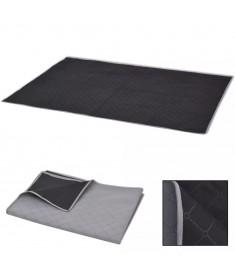 Κουβέρτα για Πικ-Νικ Γκρι και Μαύρη 100 x 150 εκ.  131576