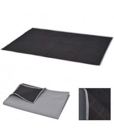 Κουβέρτα για Πικ-Νικ Γκρι και Μαύρη 150 x 200 εκ.   131577