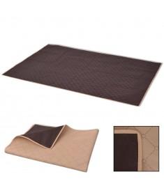 Κουβέρτα Πικ-Νικ Μπεζ και Καφέ 150 x 200 εκ.