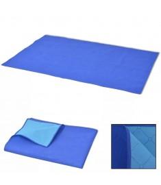Κουβέρτα για Πικ-Νικ Μπλε και Γαλάζια 150 x 200 εκ.