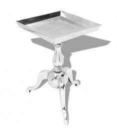 Τραπέζι Βοηθητικό Τετράγωνο Ασημί από Αλουμίνιο   243511