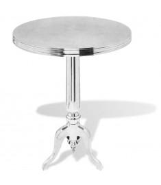 Τραπέζι Βοηθητικό Στρογγυλό Ασημί από Αλουμίνιο   243512