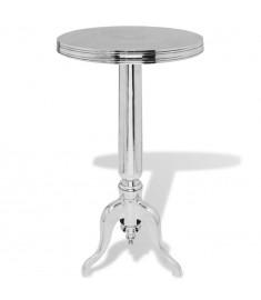 Τραπέζι Βοηθητικό Στρογγυλό Ασημί από Αλουμίνιο   243513