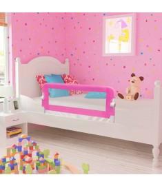 Μπάρα Κρεβατιού για Παιδιά Προστατευτική 2 τεμ. Ροζ 102x42 εκ.  276085