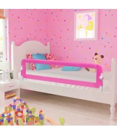 Μπάρα Κρεβατιού Προστατευτική για Παιδιά 2 τεμ. Ροζ 150x42 εκ.  276086