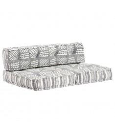 Μαξιλάρι για Καναπέ από Παλέτες Γκρι Patchwork Υφασμάτινο  249420