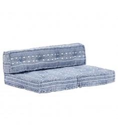Μαξιλάρι για Καναπέ από Παλέτες Ίντιγκο Patchwork Υφασμάτινο  249423