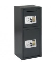 Χρηματοκιβώτιο Ψηφιακό με Δύο Πόρτες Σκούρο Γκρι 35x31x80 εκ.  144685
