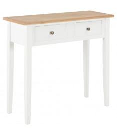 Τραπέζι Κονσόλα Λευκό 79 x 30 x 74 εκ. Ξύλινο  280053