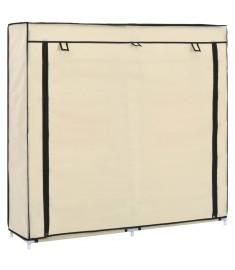 Παπουτσοθήκη με Κάλυμμα Κρεμ 115 x 28 x 110 εκ. Υφασμάτινη  282433