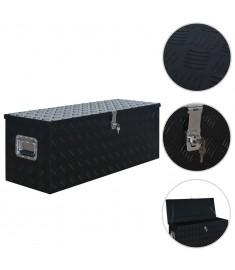 Κουτί Αποθήκευσης Μαύρο 1085 x 370 x 400 χιλ. Αλουμινίου  144846