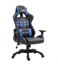 Καρέκλα Gaming Μπλε από Πολυουρεθάνη  20192