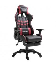 Καρέκλα Gaming με Υποπόδιο Μπορντό από Πολυουρεθάνη  20207