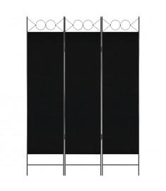 Διαχωριστικό Δωματίου με 3 Πάνελ Μαύρο 120 x 180 εκ.  280235