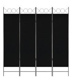 Διαχωριστικό Δωματίου με 4 Πάνελ Μαύρο 160 x 180 εκ.  280238